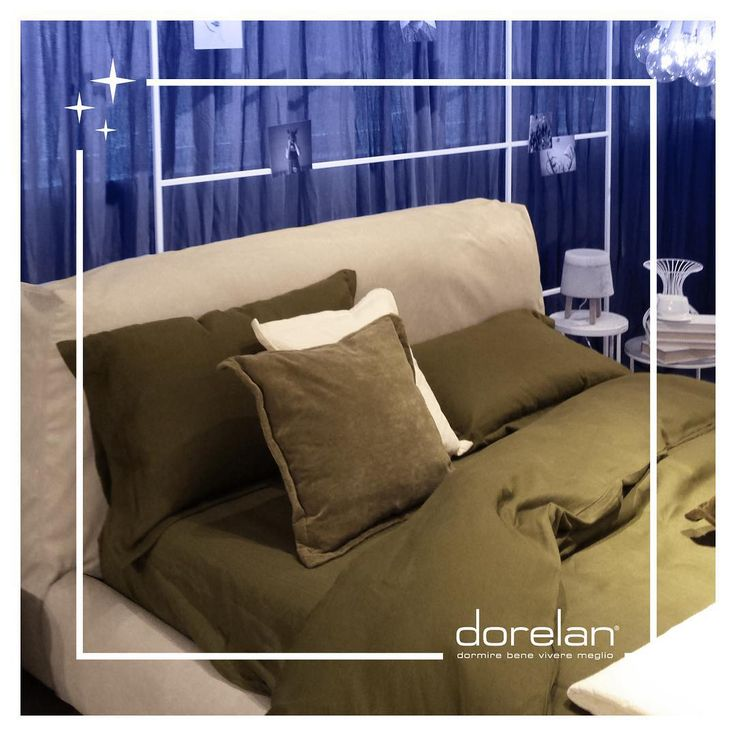 I often think that the #night is more alive and more richly colored than the day. [Cit. Vincent Van Gogh ] #comfortable #sharpeibox #bed by #Dorelan #MadeinItaly #style #design #blue #BedInItaly #italianstyle