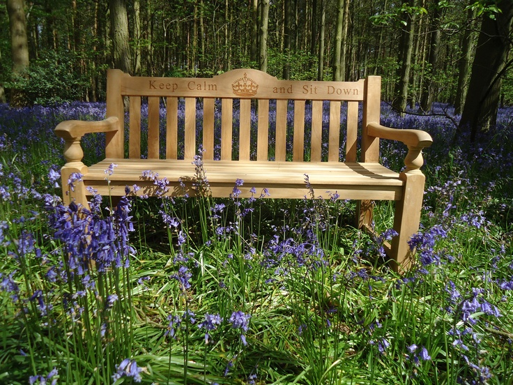 Rose Teak Bench Bluebells
