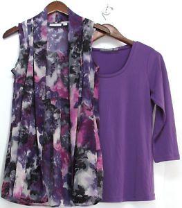 Susan Graver Tunic | Details about Susan Graver Liquid Knit Tunic w/ Printed Chiffon ...