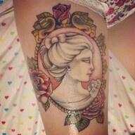 Cameo tattoo- so pretty and soft! I love cameos- liza