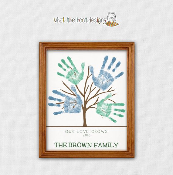 DIY Printable Handprint Tree - Father's Day Gift - Family Tree - Mother's Day Gift - Grandparent's Day Gift - Personalized - Printable on Etsy, $7.98 AUD