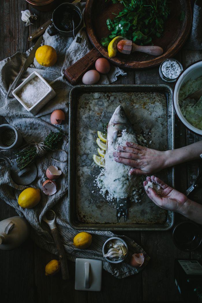 Salt Baked Sea Bass + Asheville Food Photography & Fly Fishing Workshop by Eva Kosmas Flores