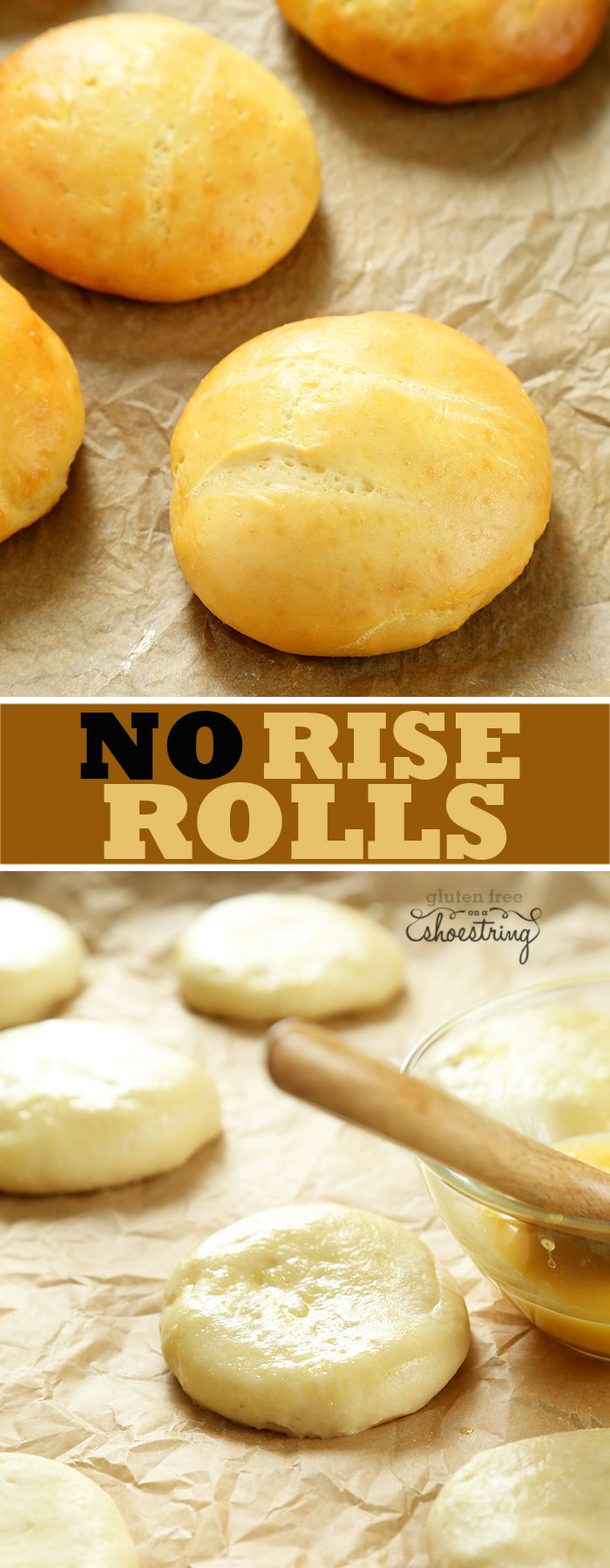 No Rise Gluten Free Yeast Rolls | Just look at how fluffy these are!