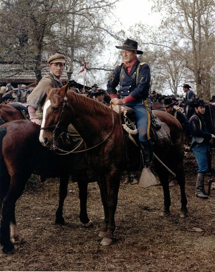 The Horse Soldiers (1959) John Wayne and Ken Curtis