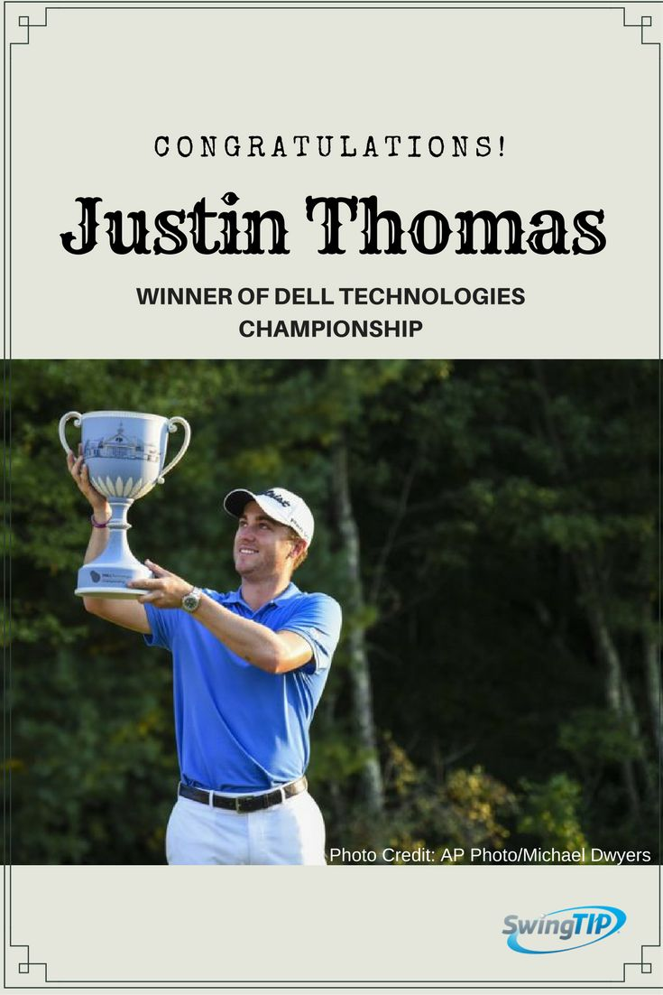 Congratulations! Justin Thomas for winning PGA Tour Dell Technologies Championship. https://mobicoach.com/product/swingtip-golf-swing-analyzer/