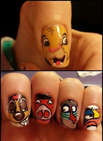The lion king nail art ☆