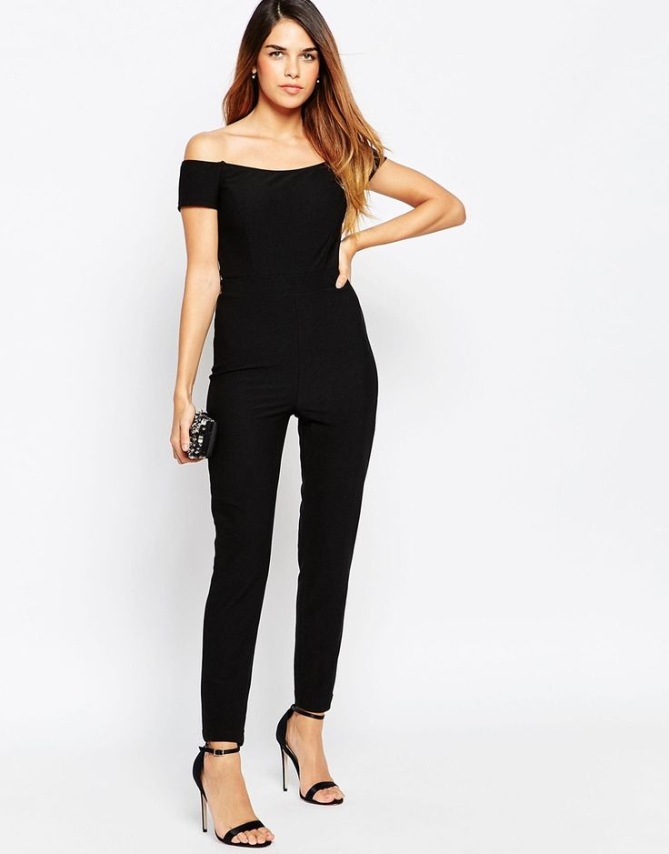 TFNC+Off+Shoulder+Catsuit+With+Twisted+Back