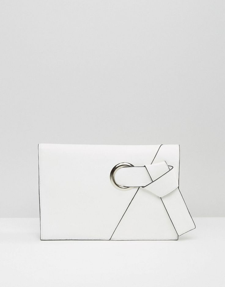 Chic white clutch is the perfect summer accessory