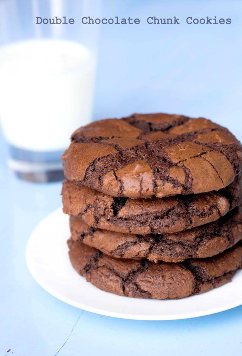 Double Chocolate Chunk Cookies | November | Pinterest
