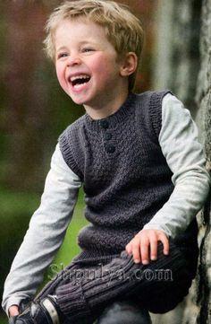 Серый жилет на пуговицах для мальчика