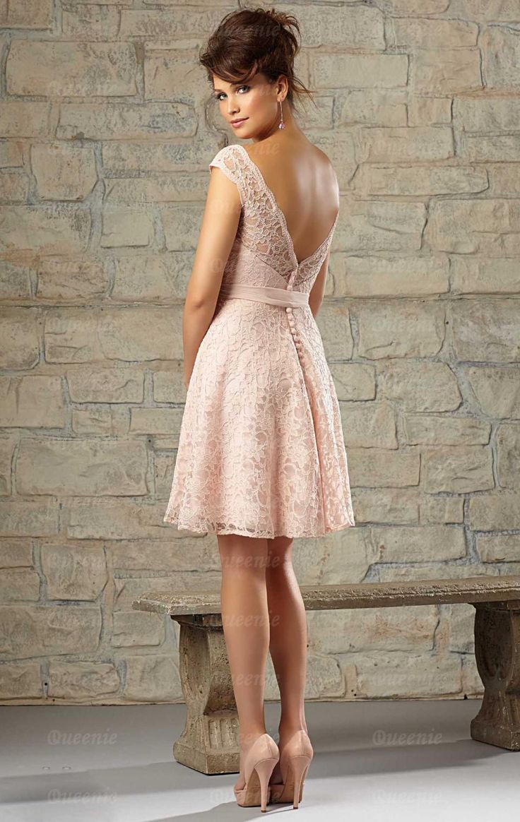Stylish Short Pink Bridesmaid Dress BNNCC0035-Bridesmaid UK