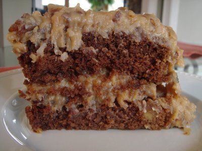 Cafe Coco: German Chocolate Cake with Coconut Pecan Frosting and ...