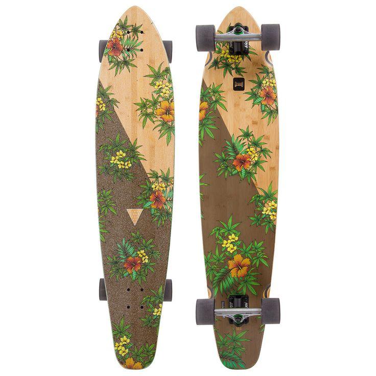 "GLOBE Longboard BYRON BAY Bamboo Hibiscus Kicktail Complete Skateboard 9.5 x 43"" | Sporting Goods, Outdoor Sports, Skateboarding & Longboarding | eBay!"