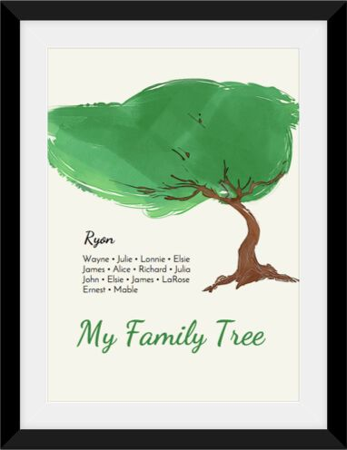 View and share your family tree in a fun way with a printable family keepsake you'll cherish.