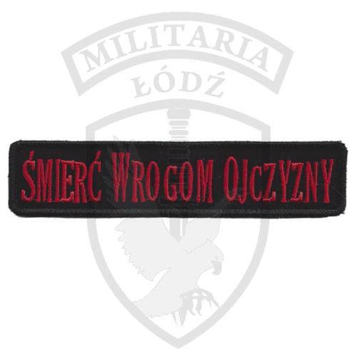 Naszywka Śmierć Wrogom Ojczyzny czarna Militaria Łódź.pl