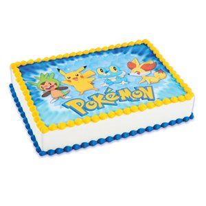Pokemon Cake Icing Edible Image A Birthday Place