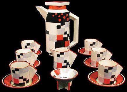 Clarice Cliff, Cafe, Eton Coffee Set