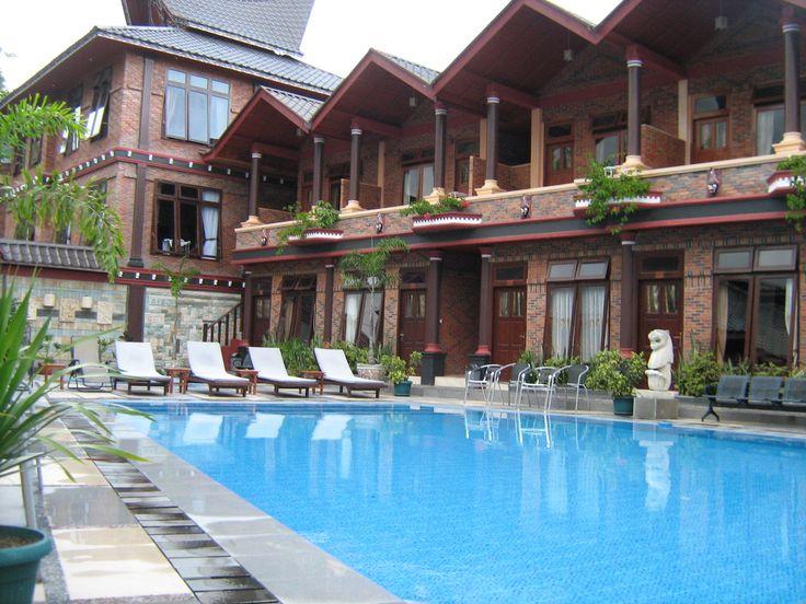 Swimming Pool in Samosir Villa Resort Book here : +6281376099120 / 7ECDFBC3 / indrielegant09@gmail.com