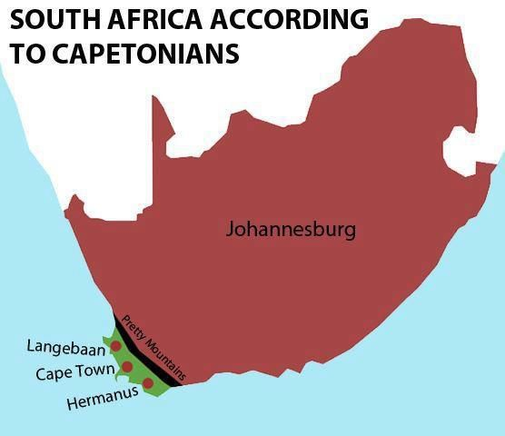 SOUTH AFRICA ACCORDING TO CAPETONIANS