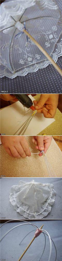 Кукольные аксессуары. Мастер-класс от Nkale: Кружевной зонтик