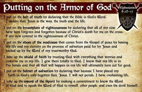 Armor of god prayer card