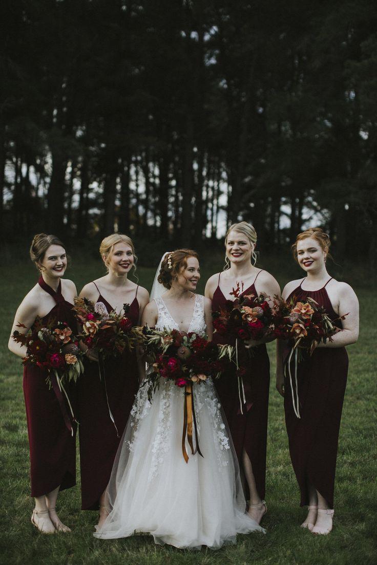 Elegant Autumnal Gallery Wedding In Canberra - Polka Dot Bride   Photo by All Grown Up Weddings http://www.allgrownupweddings.com.au/