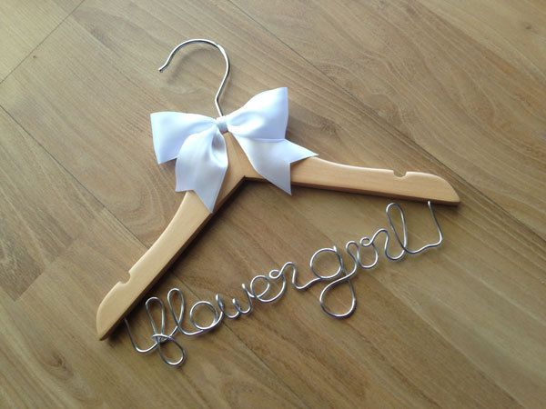 JUST GORGEOUS - Flower girl hangers for the cutest little girls around - something they can keep forever. by louiseexclusivelyyou on Etsy