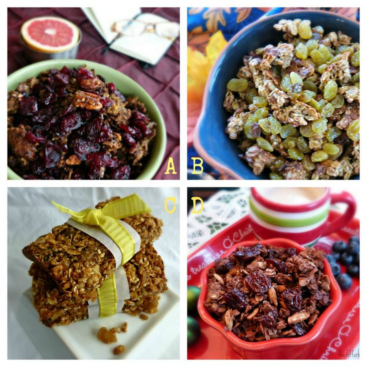 Granola Recipe Roundup - Chocolate Cherry, Pumpkin, Gingerbread ...