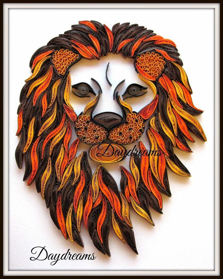 http://papercraftss.blogspot.com/2014/09/quilled-lion-head.html