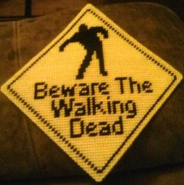The Walking Dead Inspired Plastic Canvas Xing Sign Pattern