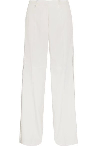 Calvin Klein Collection - Laskin Cady Wide-leg Pants - White - IT36