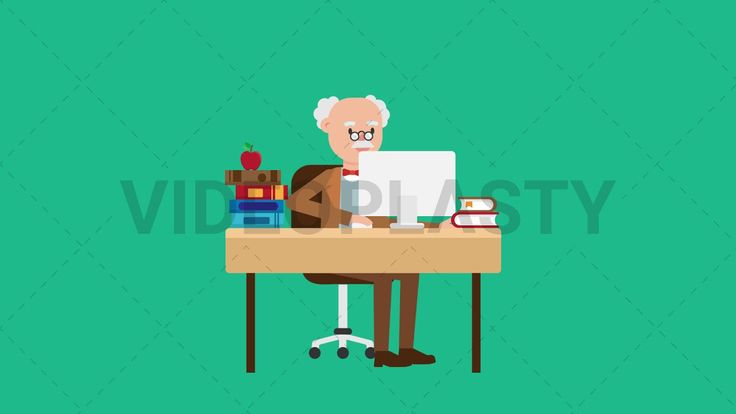 Download: http://ift.tt/2fvstfC  An older professor with gray hair wearing a brown suit is sitting at his desk working on a computer. There are many books and an apple on the desk.  Two versions are included: normal (with a start animation) and loopable. The normal version can be extended with the loopable version  Clip Length:10 seconds Loopable: Yes Alpha Channel: Yes Resolution:FullHD Format: Quicktime MOV  For more royalty free video assets visit: https://videoplasty.com