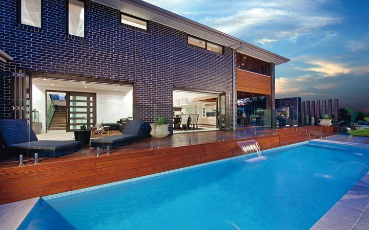 Lindrum Outdoor Pool, New Home Designs - Metricon