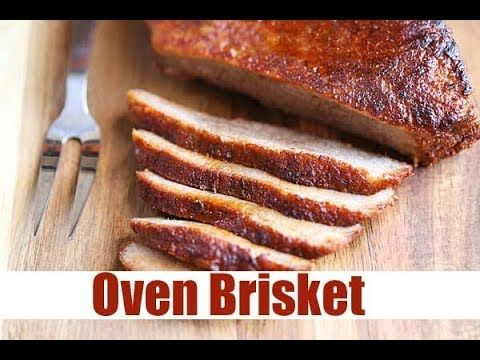 This oven brisket recipe is as easy as can be. Beef brisket is a tough but very flavorful cut of beef that requires low and slow cooking, making it ideal for a slow oven. Simply rub the brisket with spices, cook in a foil pouch, then broil to crisp up the fat cap. Easy and delicious!
