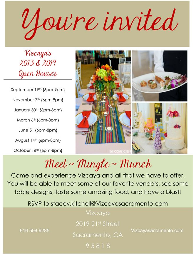 ... House Flyers. Looking For A Wedding Venue? Join Us For  Vizcaya\uFEFFu0027s Bridal Open   Free  Free Open House Flyers