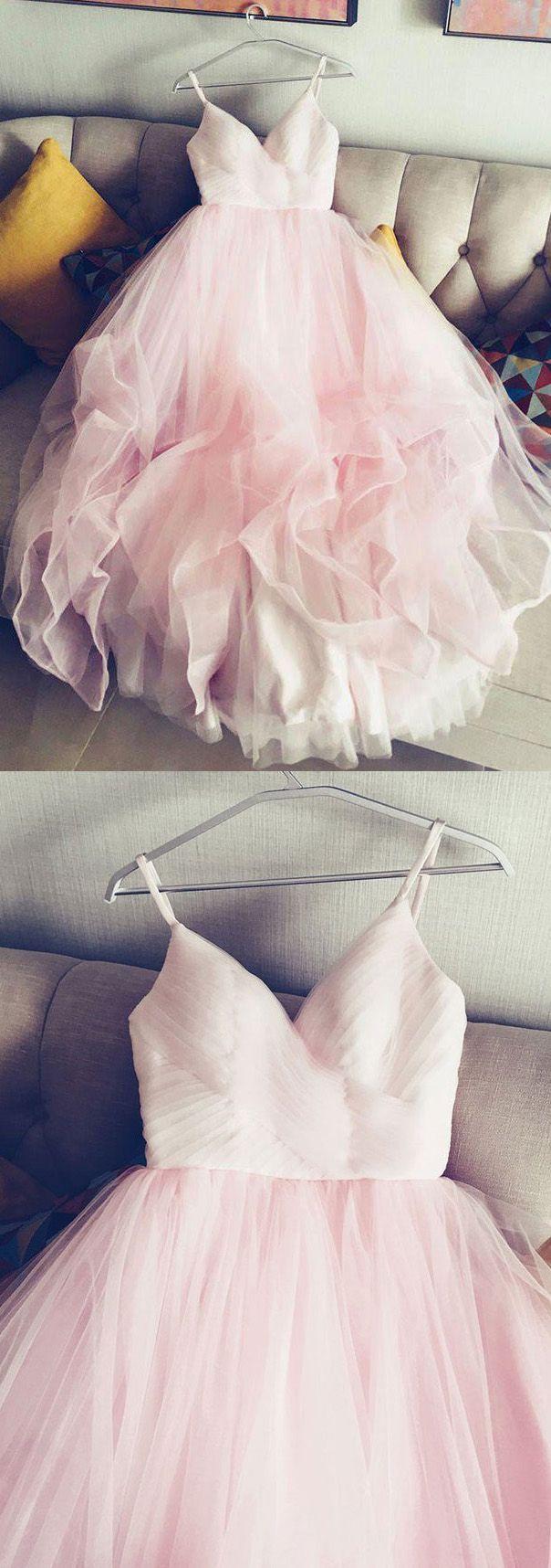 Sleeveless Dresses Short Pink Wedding With Ruffles Zipper Floor Length Soft WF02G56 73