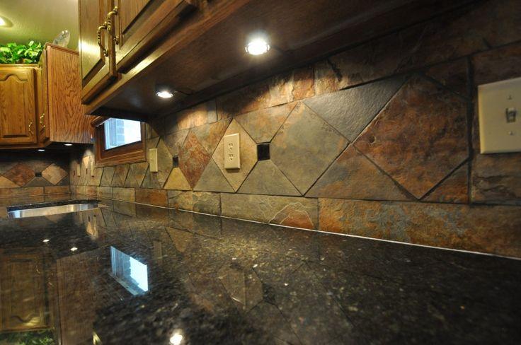amusing colorful kitchen backsplash | Inspiration Tiles. Admirable Slate Backsplash For Kitchen ...