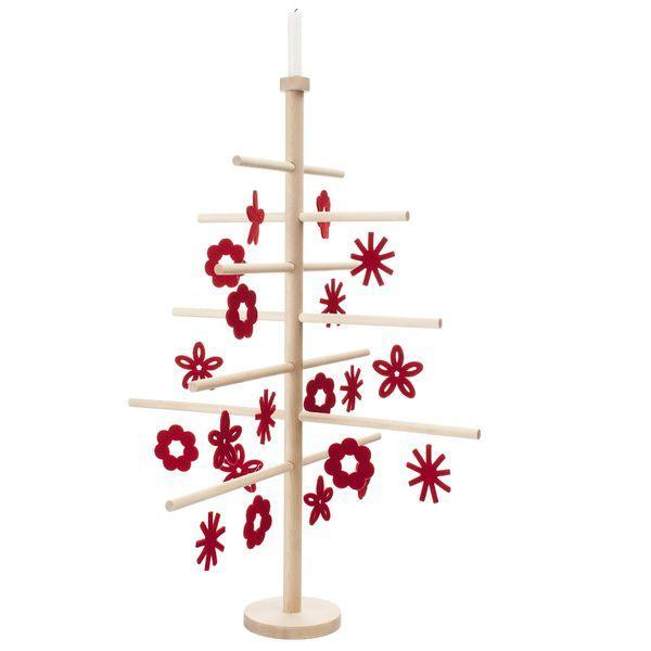 Joulupuu, iso - punaiset koristeet