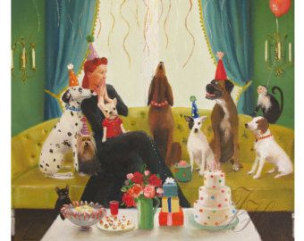 Miss Moon Was A Dog Governess. Lesson by janethillstudio on Etsy