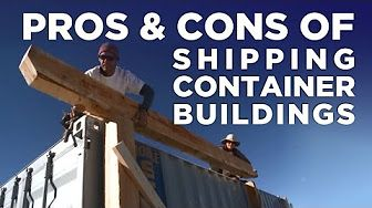 Welding two shipping containers homes - YouTube