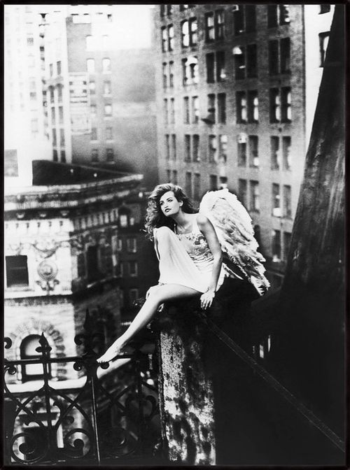 The Sky over New York I - 1995 - Photo by Marino Parisotto (Canadian) for La Perla Lingerie & Desire -  Limited edition, edition of 150