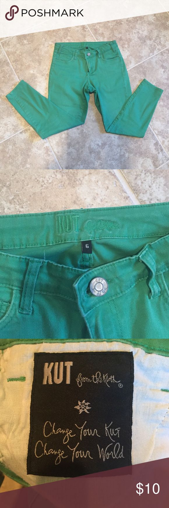 Kut Green Skinny Jeans Kut from the Kloth Green Skinny Jeans, size 6 **10% off bundles of 2+** Kut from the Kloth Jeans Skinny