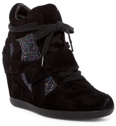 Ash Bowie Glitter Wedge Sneaker