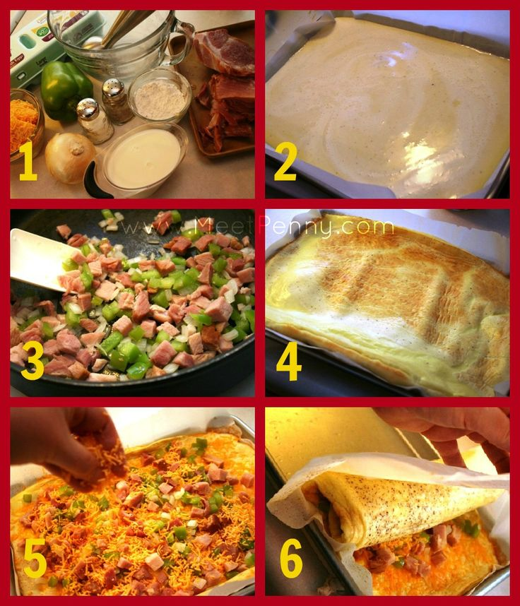 ... for making a Western Omelet Roll... Omelets made in the oven! YUM