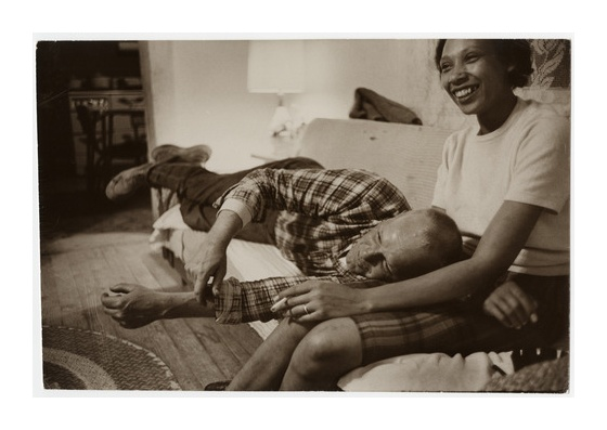 Mr. and Mrs. Loving, of the Supreme Court case Loving vs. Virginia (1967) that struck down inter-racial marriage bans, at their home in 1965