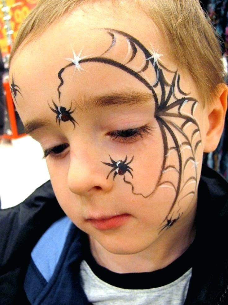 Spider Halloween Face Painting Spider Face Painting Ideas Captain