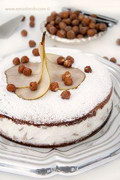 Torta di ricotta e pere - Ricotta and pear cake | From Zonzolando.com