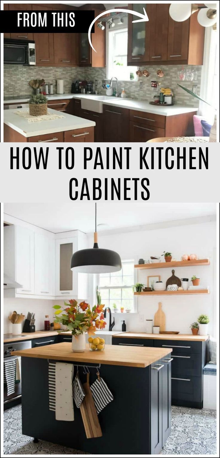 You can PAINT kitchen cabinets Itu0027s easy