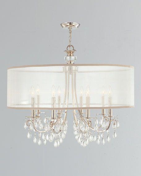hampton 8 light drum shade chrome chandelier lighting chandelier rh pinterest com
