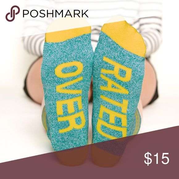 """Arthur George socks by Robert Kardashian """"Overrated""""  Size: 7-12  Arthur George socks by Robert Kardashian are famous for their comfort, style, and unapologetic attitude. Express yourself! Arthur George Accessories Hosiery & Socks"""